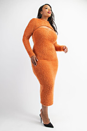 Plus Size Tube Dress with long Sleeve Top.