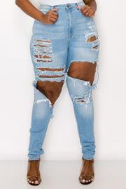 Plus Size High Rise Skinny Flare Jean.