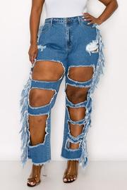 Plus Size High Rise Boyfriend Fit Jean.