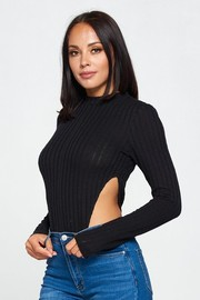 Long Sleeve Knit Bodysuit.