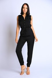 Button Down Jumpsuit.