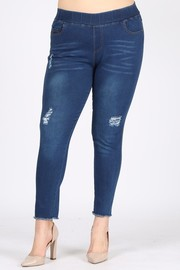 Plus Size Denim Jeggings.