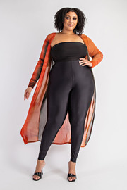 Plus Size Long Sleeve Cardigan.