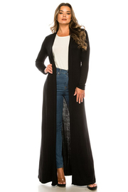 Solid Rayon Long Cardigan.