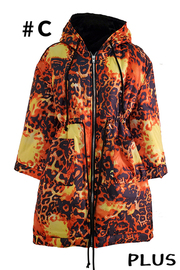Plus Size Printed Coat.