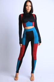 Color Blocked Leggings Set.