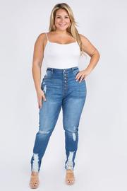 Plus Size High Rise Skinny Jeans.