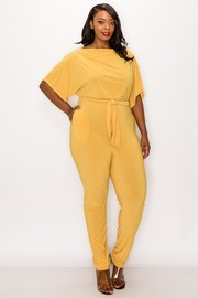 Plus Size Knit Easy Wear Jumpsuit.