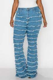 Plus Size High Rise Curvy Flare Jeans.