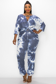 Plus Size Tie Dye Set with Long Sleeves