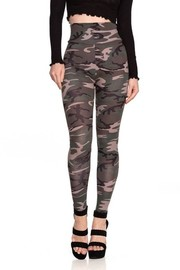 High Waist camo print Leggings with banded waistline.