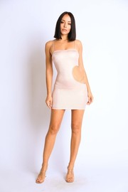 Side Cutout tank dress with chain detail.