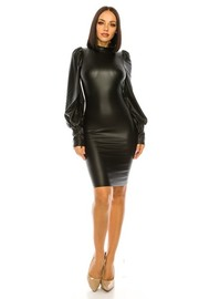 Faux Leather Dress.