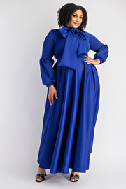 Long Sleeve tie front Maxi Dress.