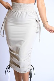Plus Size Windbreaker Skirt.