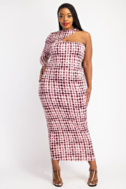 Plus Size Cut Out detail long Dress.