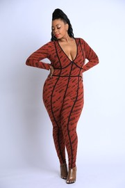 Plus Size Printed Jumpsuit.