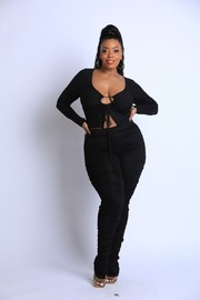 Plus Size Ruched legging Set.