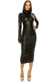 Pu Faux leather Dress.