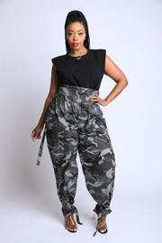 Plus Size Camo High waisted Pants.