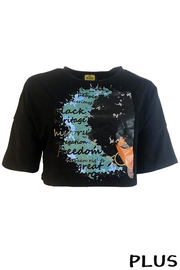 Plus Size Sublimation Crop Top.