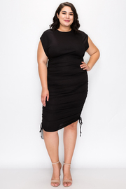 Plus Size Dress with Drawstring details on the Sides