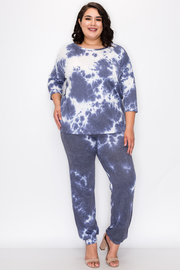 Plus Size Tie Dye 2 piece Set