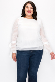 Plus Size Top with Mesh detail