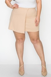 Plus Size Front wrap skirt with inside pants skirt.