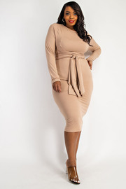 Plus Size Wrap Around waist tie Dress.