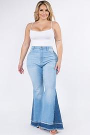 Plus Size Curvy Super Flare 2 Blue Jeans.