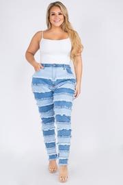 Plus Size High Rise Curvy Skinny Jeans.