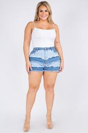 Plus Size High Rise Curvy Shorts.