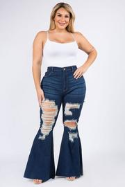 Plus Size High Rise Curvy Super Flare Jean.