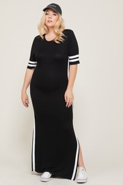 Plus Size Side slit Maxi Dress.