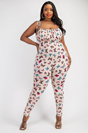 Plus Size Cami Shirred Front Jumpsuit.