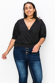 Plus Size Short Sleeve Solid Top