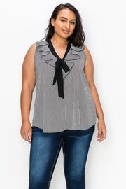 Plus Size Peplum Striped Top
