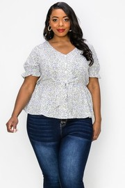 Plus Size V-neck Open and close button down.