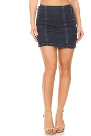 Denim Skirt with String on side.