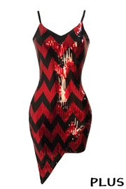 Plus Size Sequince Sexy Dress.