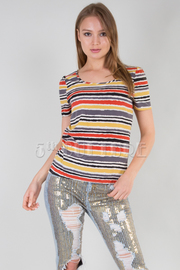 Multi-Stripe SS Top