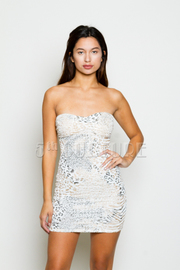Texture Leopard Dress