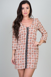 Floral Print Peasant Sleeve Dress
