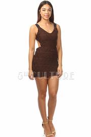 Textured Open Back Dress