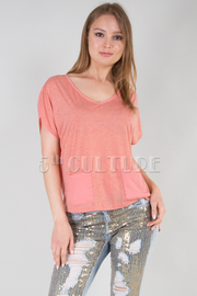 Two Tone Fish Tail Hem Top