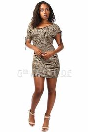 Off-Shoulder Zebra Mini Dress