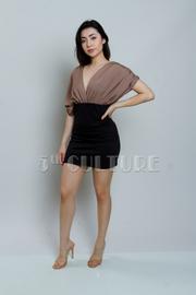 Ruched Sleeveless Dress