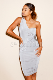 One Shoulder Asymmetric Dress