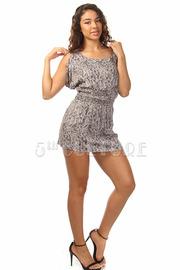 Mosaic Open Sleeve Tunic Dress